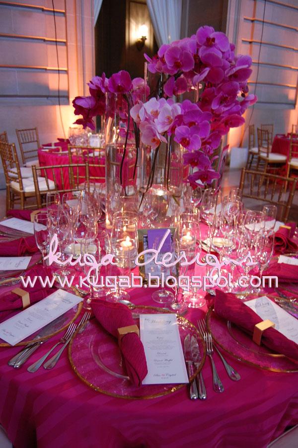 Kuga designs pink city hall wedding the reception