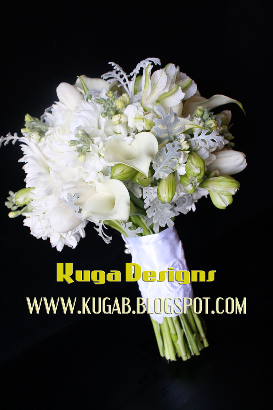 Kuga designs white and silver wedding bouquet tuesday december 28 2010 mightylinksfo
