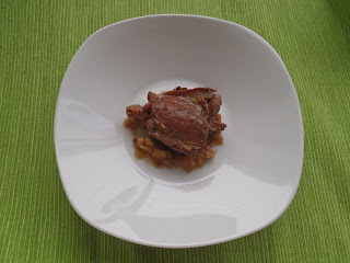 A plate of apple-braised grouse