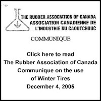 Click here to read Rubber Association of Canada Communique on Winter Tires from March 2005