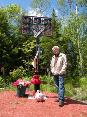 Safety advocate Bryan Murphy at the Boys in Red memorial on Highway 8 near Bathurst, NB June 15, 2010. Photo by Melynda Jarratt.