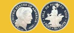 Patrón  de una moneda de 1899 para la Isla de Puerto Rico