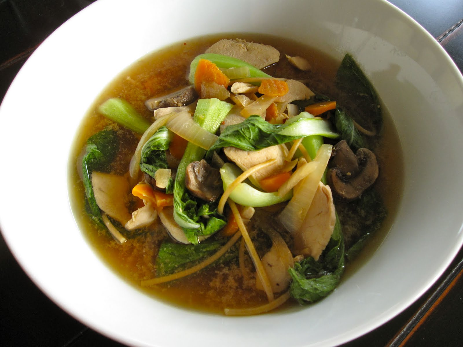 Chicken and Bok Choy Noodle Soup | Delicious Yet Nutritious