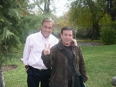 Junto al futuro presidente de Chile
