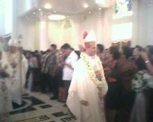 Saat perayaan Misa usai
