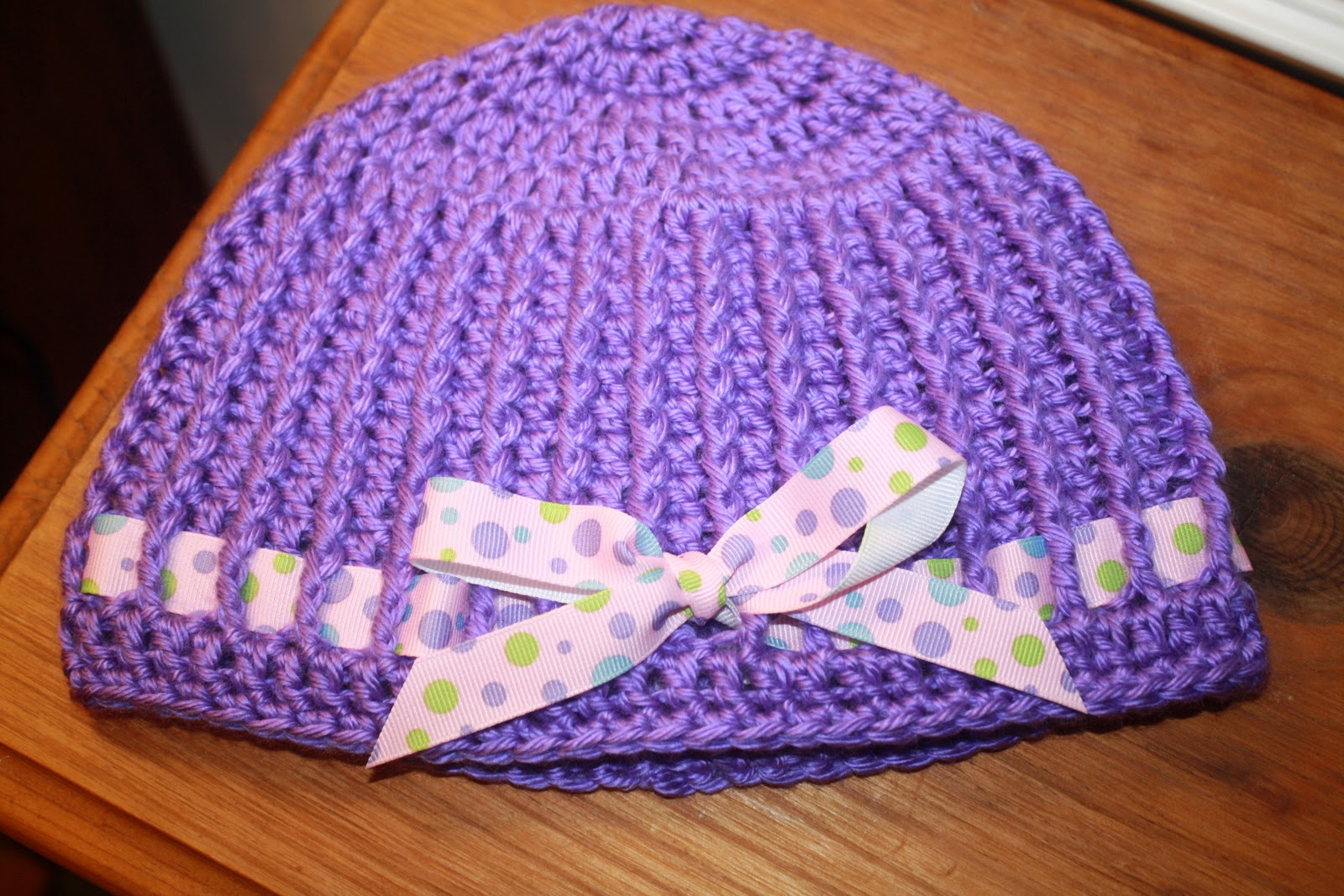 Free Crochet Hat Pattern With Bow : CroCreations: Tutorial for the Hat with a Bow