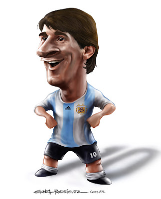 Leo Messi en caricaturas miralo