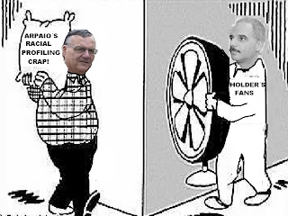 sherrif joe kicking eric holder