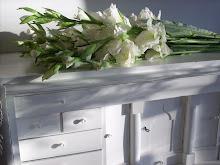 Min chiffonje och mina Gladiolus.