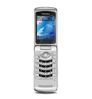 Silver BlackBerry Pearl Flip 8220
