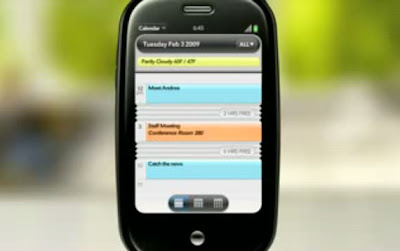 New Palm Pre With Calendar Apps Video