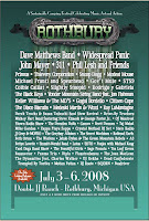 rothburylineup pos A Heady Few Weeks for Festival Crashers...