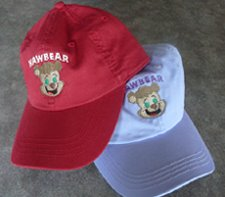 CHILDRENS HATS with HAWBEAR    $15 each