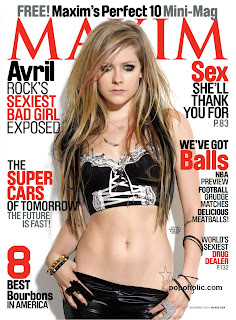 sexy avril lavigne in maxim