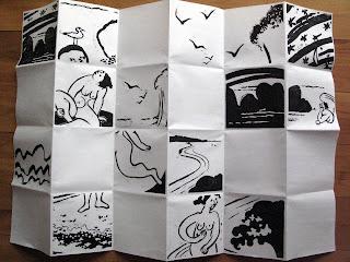 livre d'artiste en gravure sur bois de Brigitte Rio