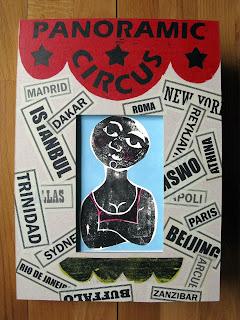 livre d'artiste en gravure sur bois de Brigitte Rio - cirque