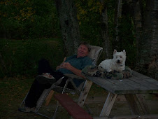 Mike & Lincoln at campsite