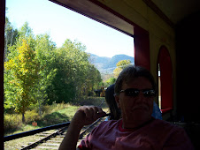 Mike on the scenic NH train