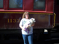 Jeri & Lincoln before our trainride