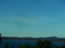 View from motorhome again in Bar Harbor