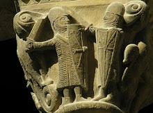 Palacio Real de Estella (Navarra) Caballero con pata de oca en su escudo