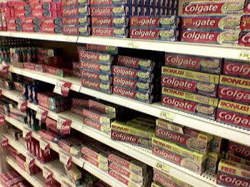 Colgate has the biggest toothpaste section in most stores!