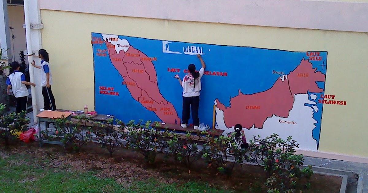 Smk bandar puchong jaya a mural peta malaysia for Mural 1 malaysia