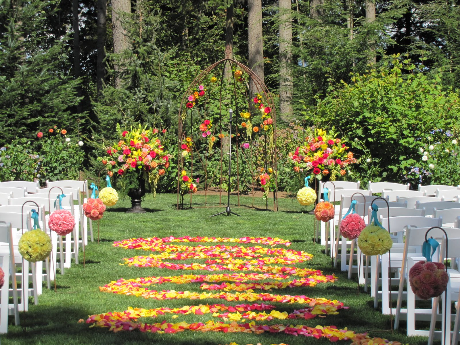The backyard gardener outdoor garden wedding for Outdoor pictures for gardens
