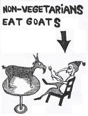 vegetarian, non-vegetarian, cartoons