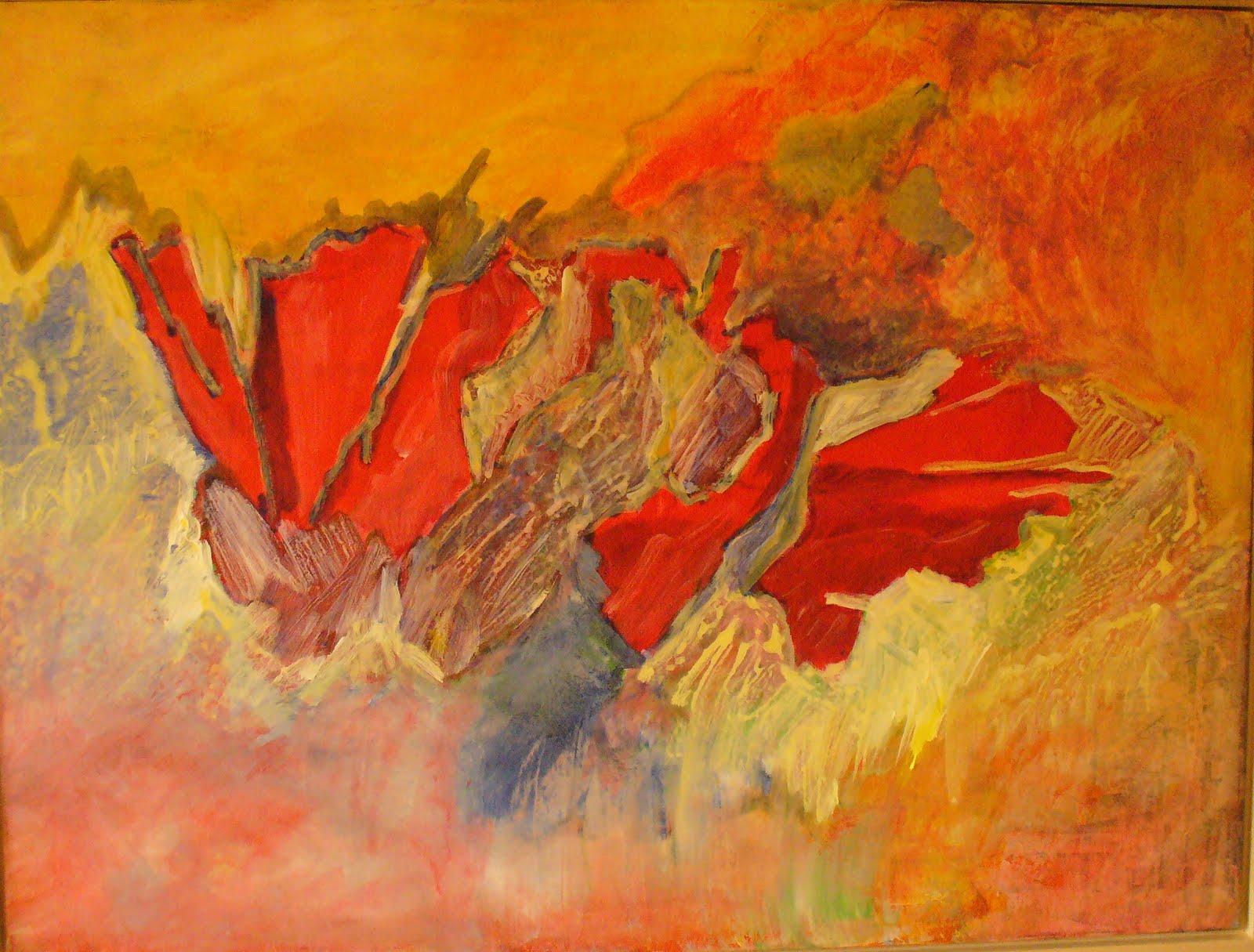 Blumen , abstrakt, 60 x 80 cm (nach teubler)