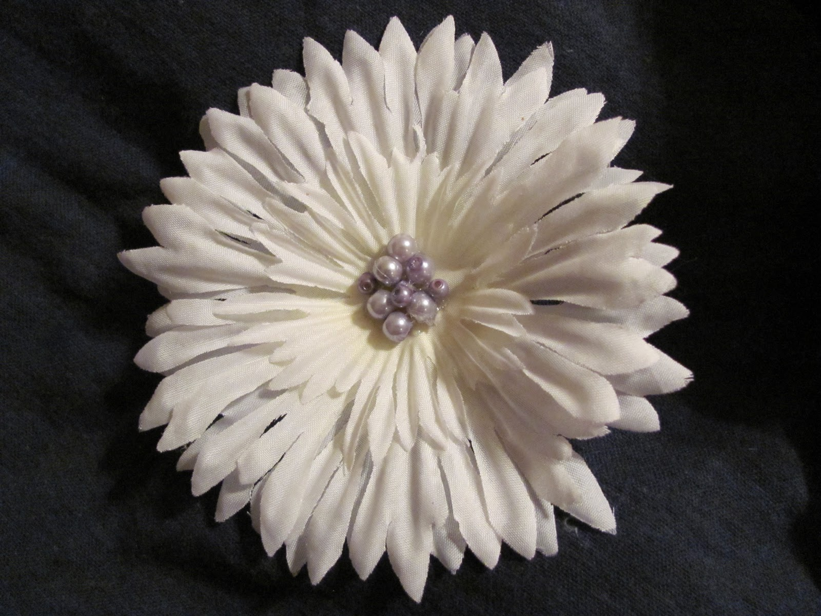 Bow peep accessories large white flower hair clips large white flower hair clip with purple glass beads mightylinksfo