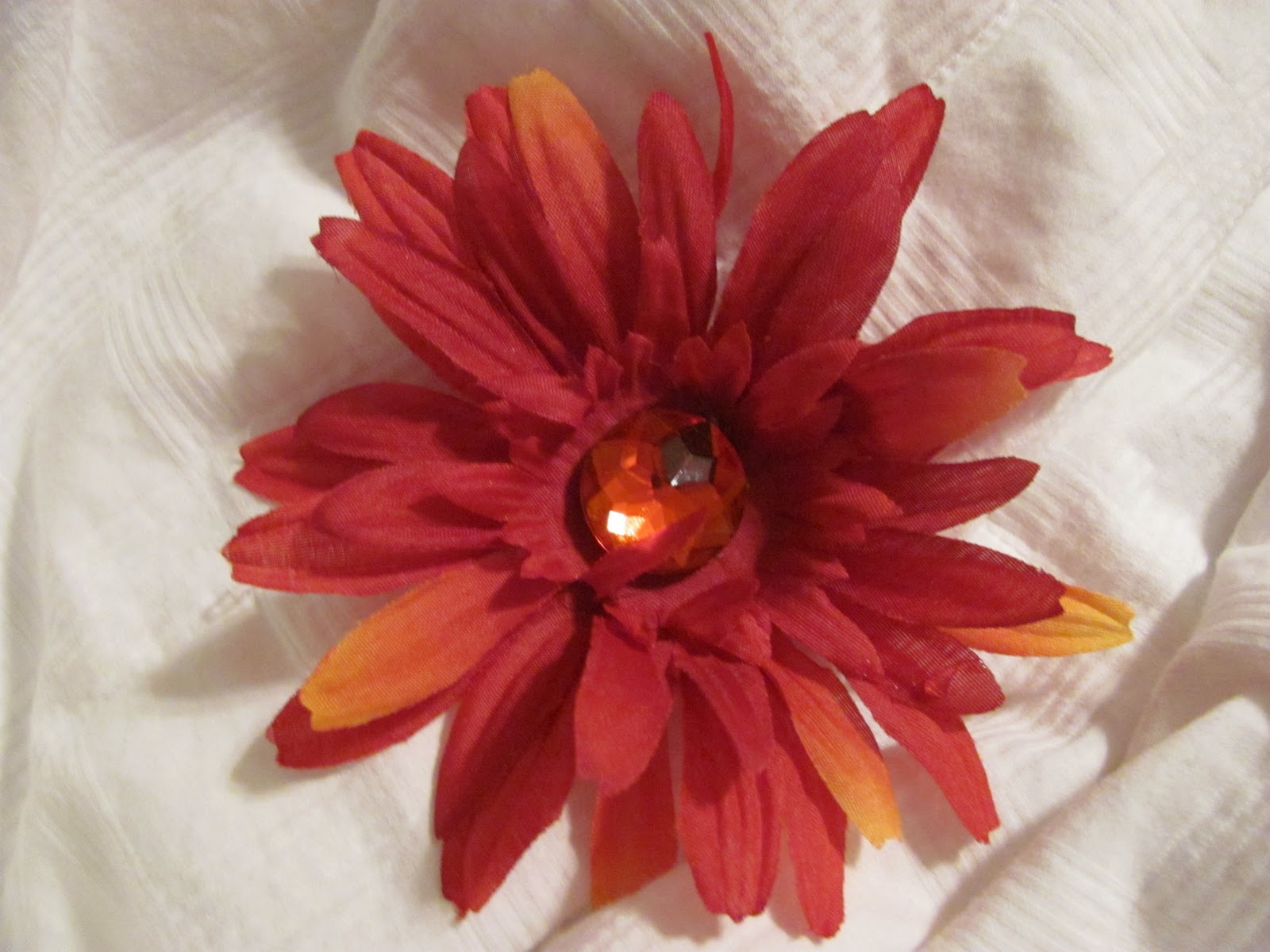 Bow Peep Accessories Large Red Flower Hair Clips