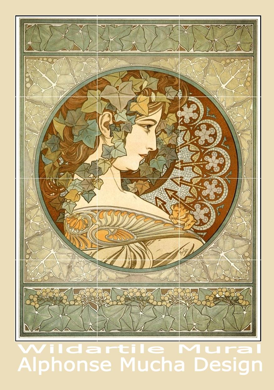 Creative buzz all things design aussie federation art for Art nouveau tile mural