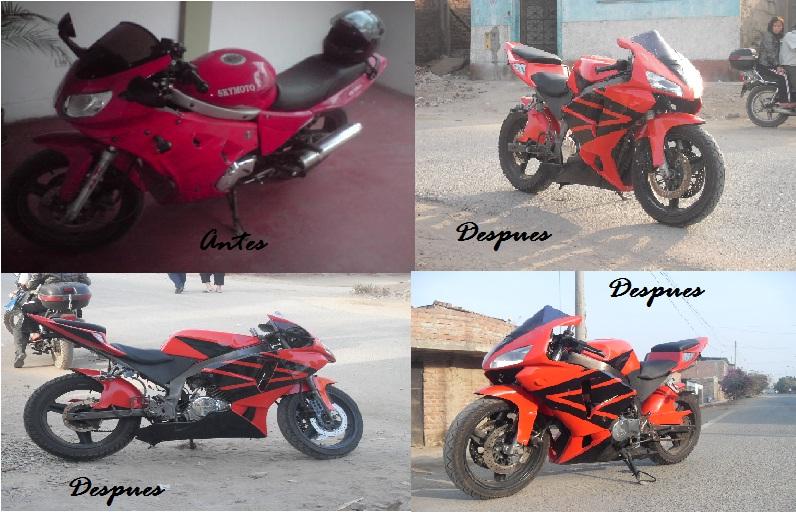 Motos chinas Transformadas a Pisteras