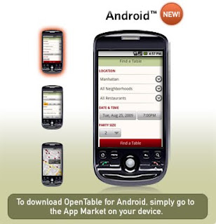 Open Table App for Android