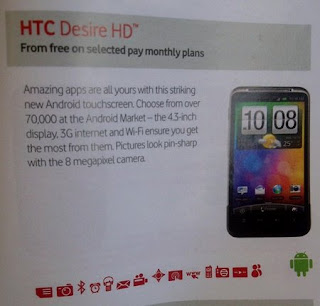 HTC Desire HD Vodafone UK