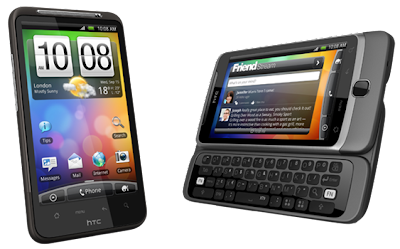HTC Desire HD and Desire Z