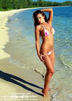 Jenn in a Malibu Strings bikini in the Bahamas