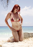 Irina in a Malibu Strings bikini in Seychelles pictures gallery