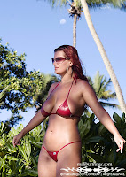 Irina in a Malibu Strings bikini in Seychelles images gallery