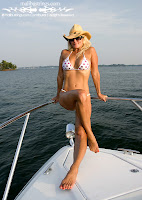 Vicki in a Pink Polka Dot Bikini (Malibu Strings) On The Lake pics gallery