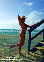 Danielle V in a Crystal Malibu Strings Bikini in Miami photos