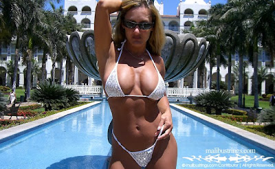 White Sequin Malibu Strings Bikini pictures images pics photos gallery