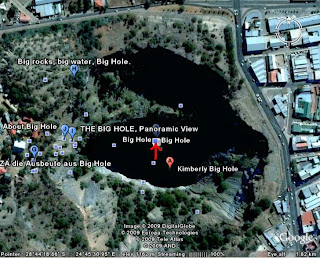 Big hole kimberley Mine - South Africa google earth view picture pic photo gallery