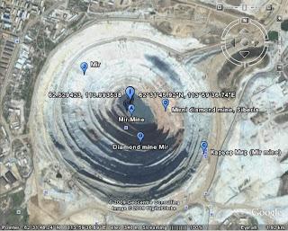 Mirny diamond mine,Siberia RUSIA google earth view gallery