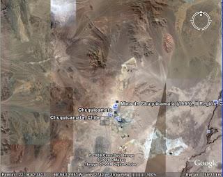 Chuquicamata copper mine - Chile google earth view gallery