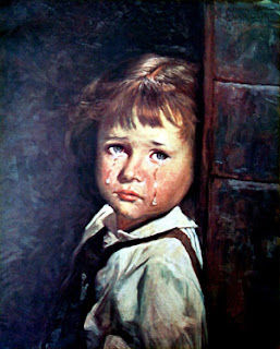 the curse of the Crying Boy Painting in the picture pic photo image gallery