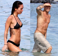Megan fox and her husband Brian Austin Green on vacation during chrismast in hawaii