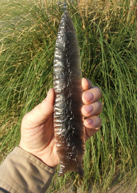 Obsidian Spear or Lance Point
