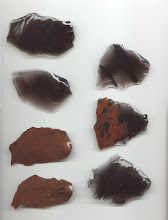 Different Colored Chips Of Obsidian